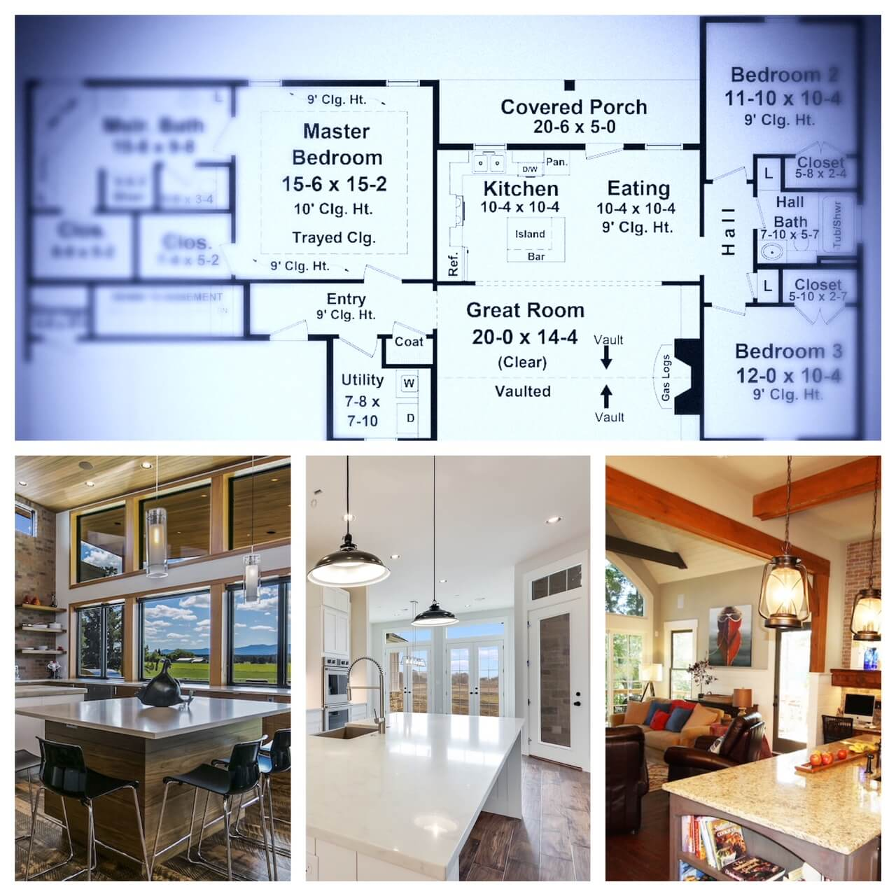 An example of house floor plan blueprints and the wide variety of kitchen design options and styles available from small to large budgets.