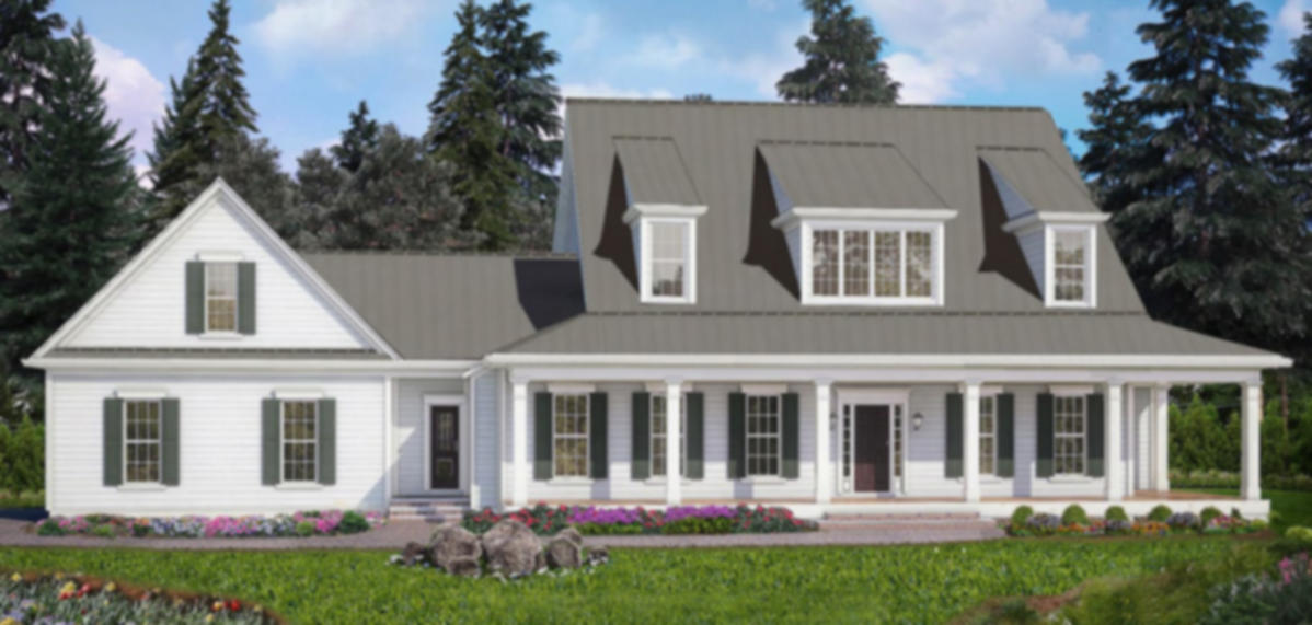 Beautiful, transitional farmhouse design with wrap-around porch.