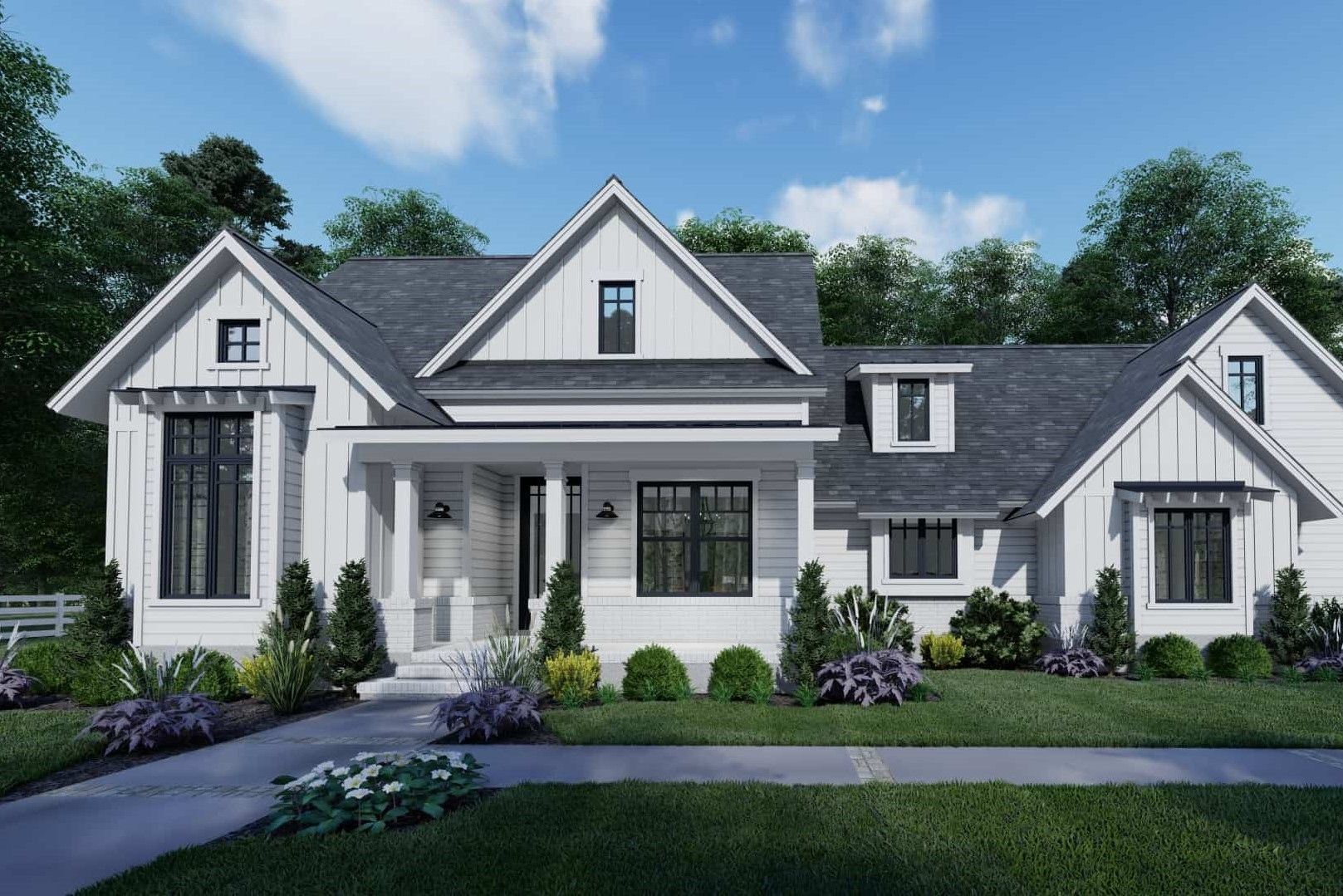 2 Story Farmhouse Plans DIY 3 Bedroom Country House Farm Home 1620 sq//ft NEW