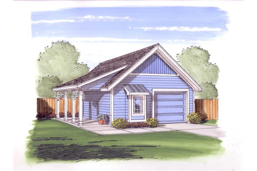 0-Bedroom, 572 Sq Ft Garage Home Plan - 100-1002 - Main Exterior