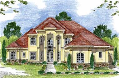 3-Bedroom, 3992 Sq Ft Mediterranean House Plan - 100-1005 - Front Exterior