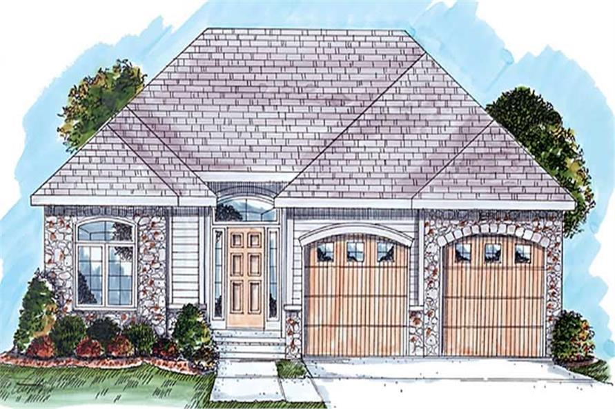 2-Bedroom, 1512 Sq Ft European Home Plan - 100-1009 - Main Exterior