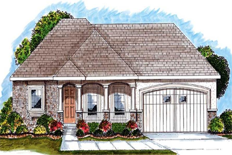2-Bedroom, 1696 Sq Ft Colonial Home Plan - 100-1012 - Main Exterior