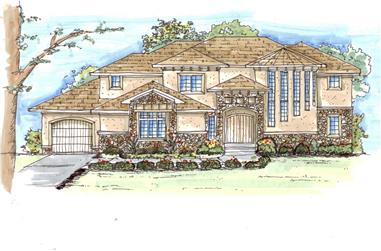 5-Bedroom, 3500 Sq Ft Luxury Home Plan - 100-1013 - Main Exterior