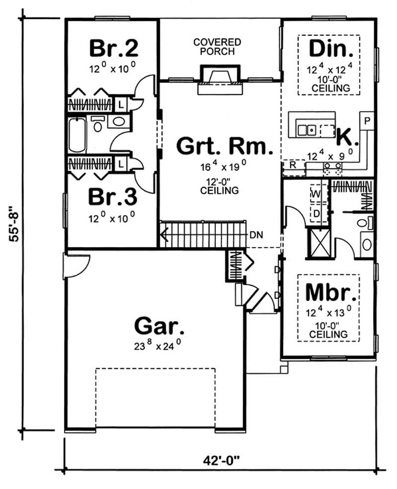 Small traditional home with 3 bedrooms 1412 sq ft for 100 sq ft bedroom