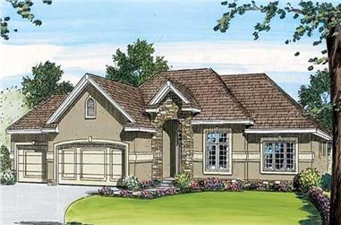 3-Bedroom, 1780 Sq Ft Small House Plans - 100-1018 - Front Exterior