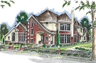 4-Bedroom, 4197 Sq Ft European House Plan - 100-1021 - Front Exterior