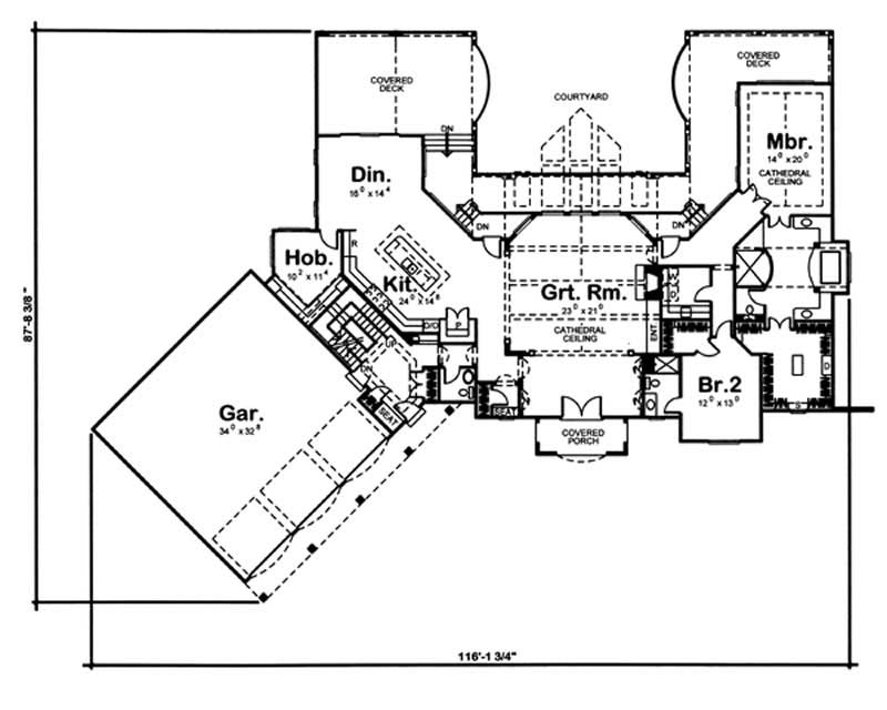 Country luxury home with 2 bedrooms 3887 sq ft house for 100 sq ft house plans