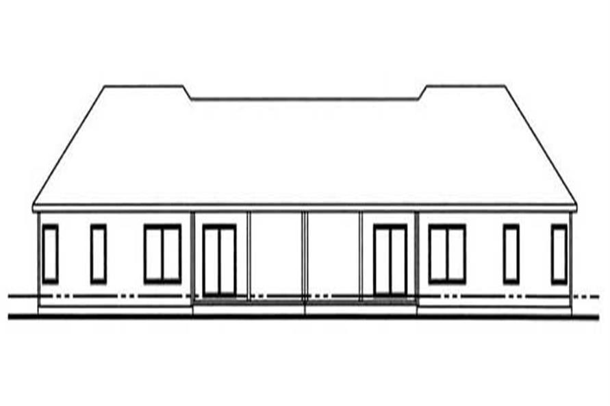 Home Plan Rear Elevation of this 3-Bedroom,2762 Sq Ft Plan -100-1024
