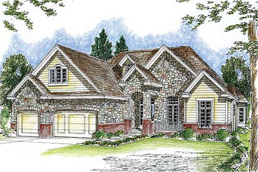 1-Bedroom, 2862 Sq Ft Craftsman House Plan - 100-1028 - Front Exterior