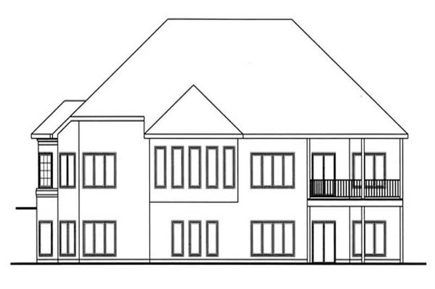 Home Plan Rear Elevation of this 1-Bedroom,2862 Sq Ft Plan -100-1028