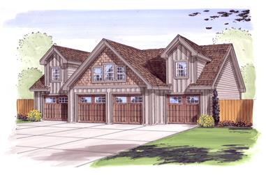 0-Bedroom, 1312 Sq Ft Garage House Plan - 100-1030 - Front Exterior