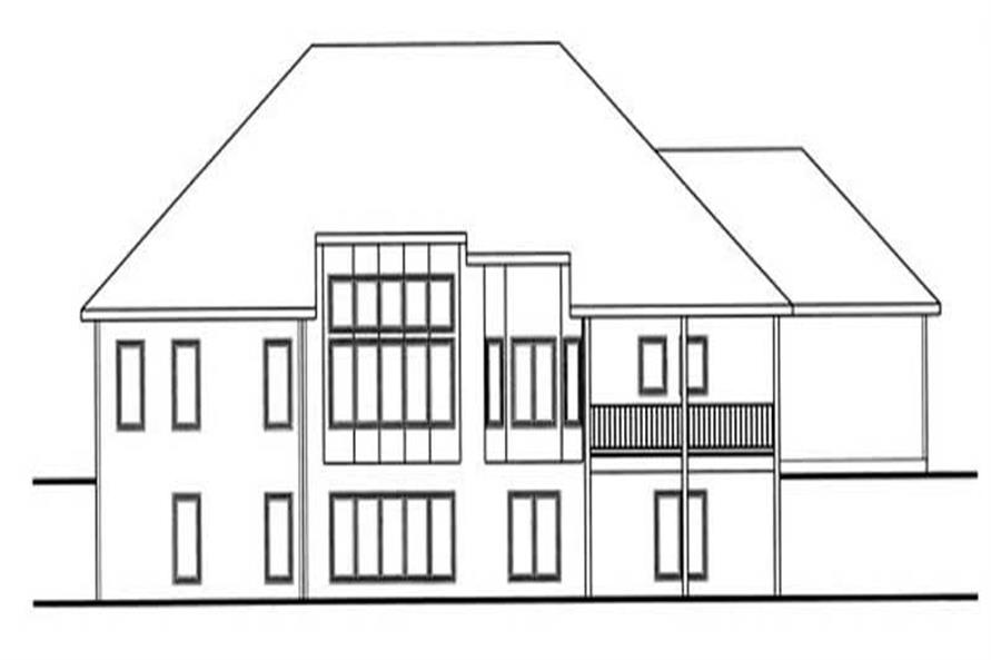 Home Plan Rear Elevation of this 2-Bedroom,2109 Sq Ft Plan -100-1031