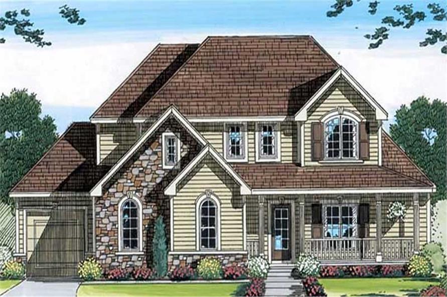 3-Bedroom, 2150 Sq Ft European Home Plan - 100-1032 - Main Exterior