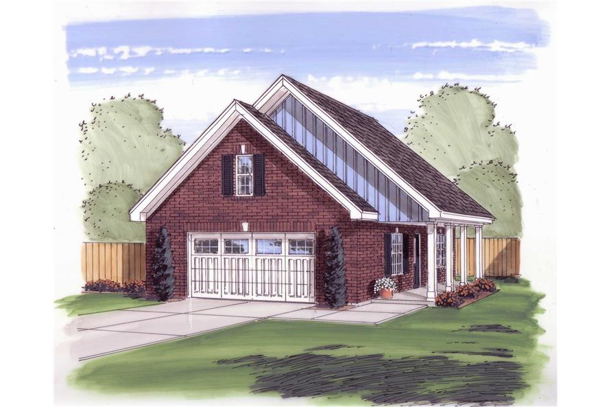 0-Bedroom, 676 Sq Ft Garage House Plan - 100-1034 - Front Exterior