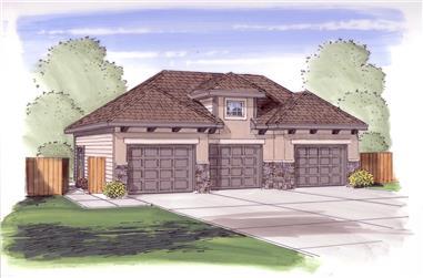 0-Bedroom, 988 Sq Ft Garage House Plan - 100-1036 - Front Exterior
