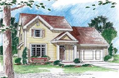 3-Bedroom, 1514 Sq Ft Small House Plans - 100-1038 - Main Exterior