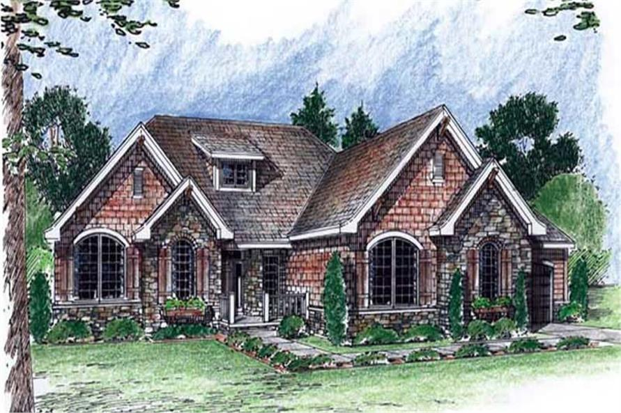 2-Bedroom, 2159 Sq Ft Craftsman House Plan - 100-1039 - Front Exterior