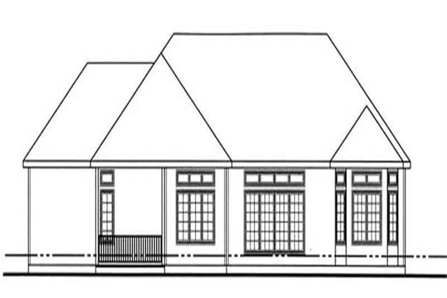 Home Plan Rear Elevation of this 2-Bedroom,2159 Sq Ft Plan -100-1039