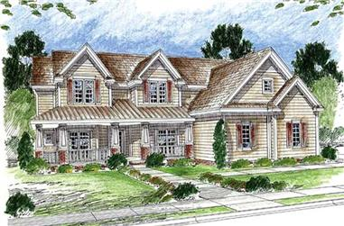 4-Bedroom, 3427 Sq Ft Country House Plan - 100-1041 - Front Exterior