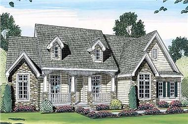 3-Bedroom, 2471 Sq Ft Cape Cod House Plan - 100-1042 - Front Exterior