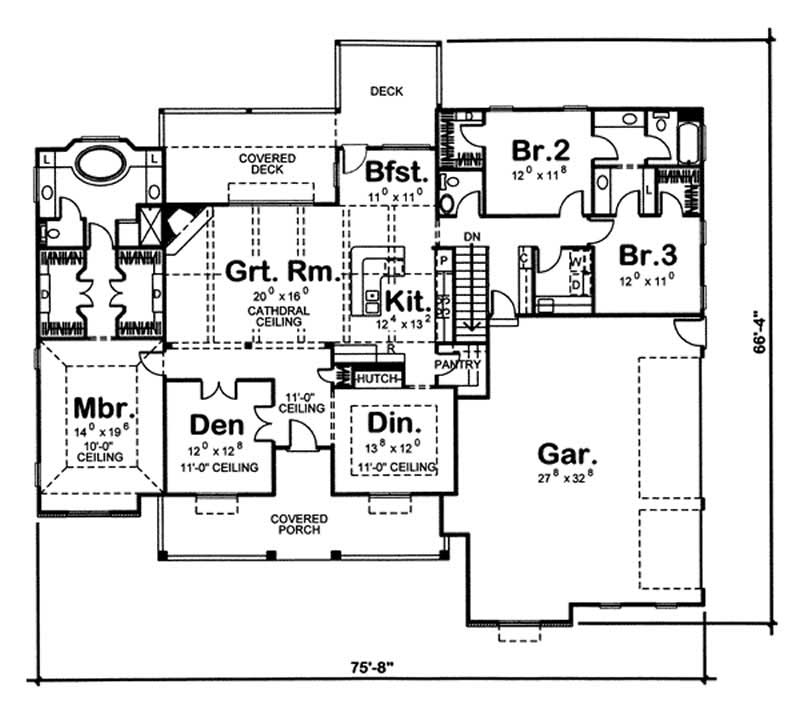 Cape Cod Home Plan 3 Bedrms 2 5 Baths 2471 Sq Ft