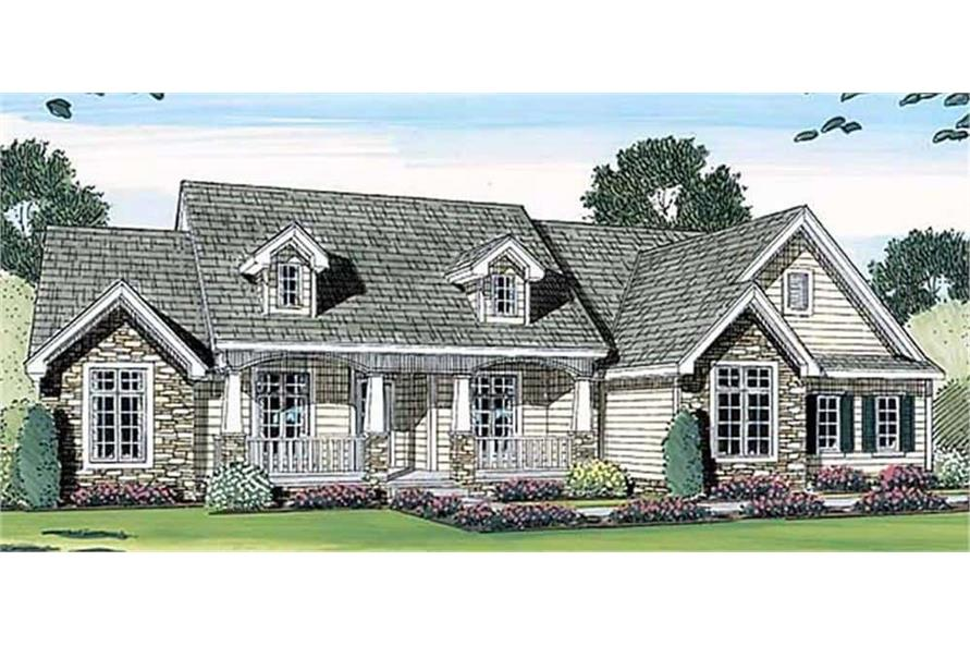 Front View of this 3-Bedroom,2471 Sq Ft Plan -100-1042