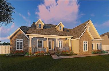 3-Bedroom, 2471 Sq Ft Cape Cod House - Plan #100-1042 - Front Exterior