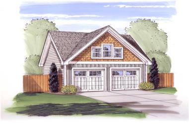 0-Bedroom, 576 Sq Ft Garage House Plan - 100-1043 - Front Exterior