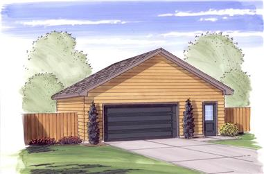 Color rendering of Garage plan (ThePlanCollection: House Plan #100-1050)