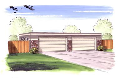 0-Bedroom, 1040 Sq Ft Garage House Plan - 100-1051 - Front Exterior