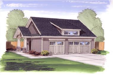 0-Bedroom, 50 Sq Ft Garage Home Plan - 100-1053 - Main Exterior