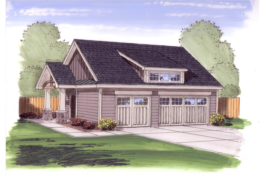 0-Bedroom, 50 Sq Ft Garage Home Plan - 100-1053 - Main Exterior