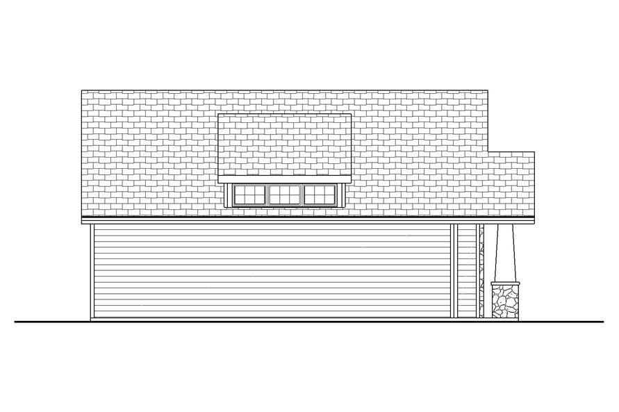 Home Plan Rear Elevation of this 0-Bedroom,50 Sq Ft Plan -100-1053