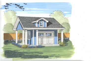 0-Bedroom, 151 Sq Ft Specialty House Plan - 100-1057 - Front Exterior