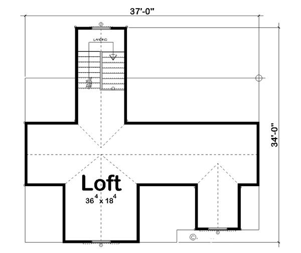 100-1059: Floor Plan Second Story