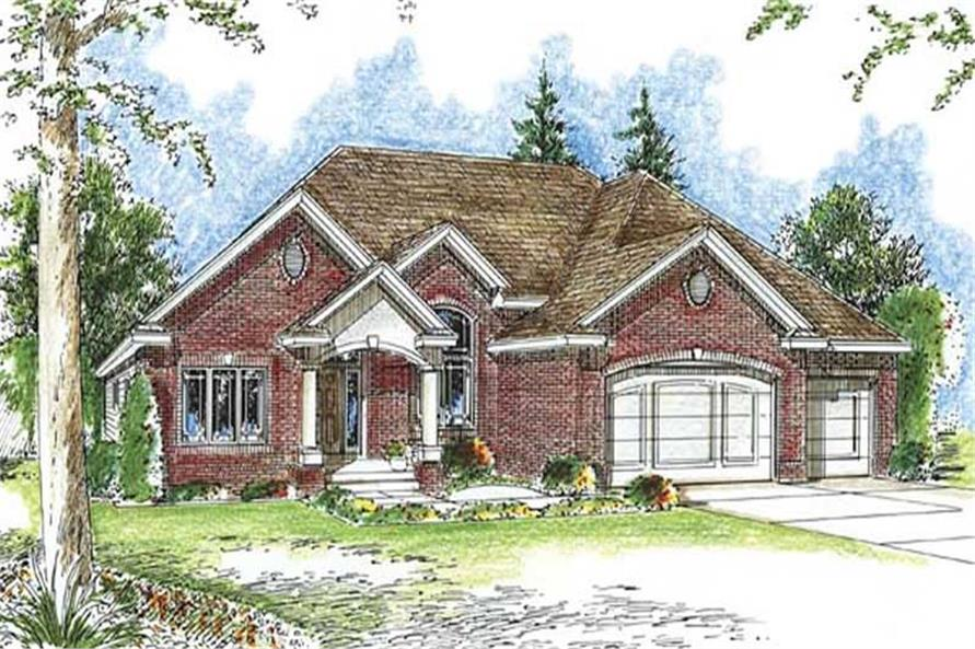 Home Plan Front Elevation of this 1-Bedroom,1850 Sq Ft Plan -100-1061