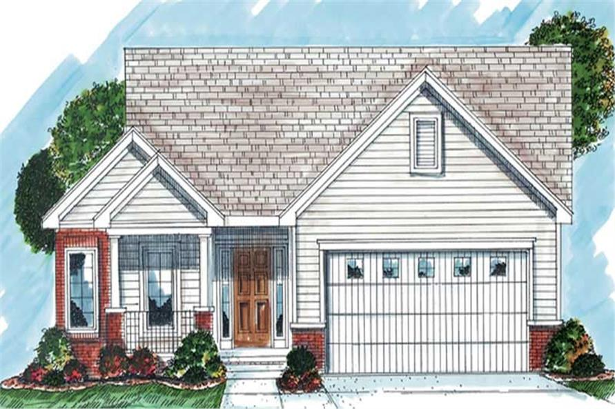 2-Bedroom, 1502 Sq Ft Small House Plans - 100-1062 - Main Exterior