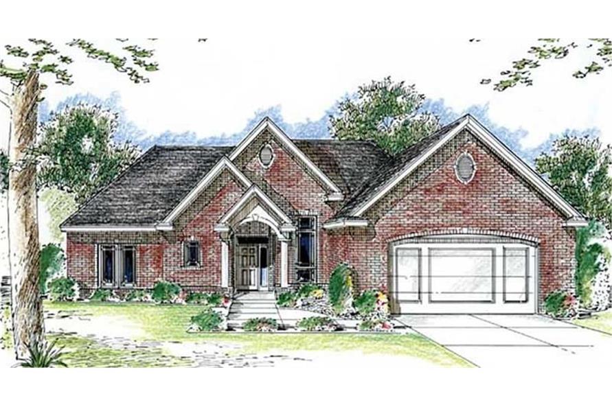 Home Plan Rendering of this 2-Bedroom,2164 Sq Ft Plan -2164