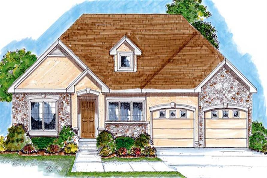 2-Bedroom, 1685 Sq Ft Bungalow Home Plan - 100-1064 - Main Exterior