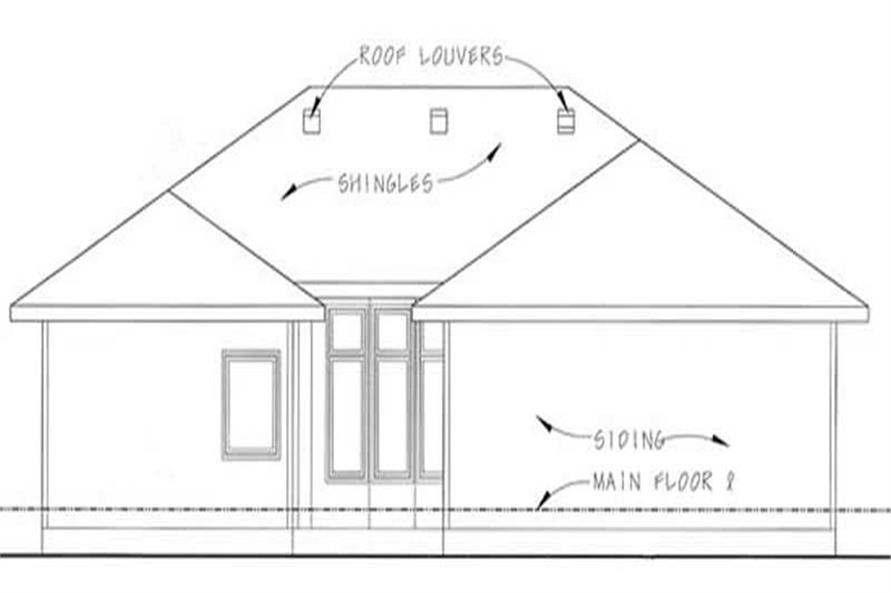 Home Plan Rear Elevation of this 2-Bedroom,1772 Sq Ft Plan -100-1065
