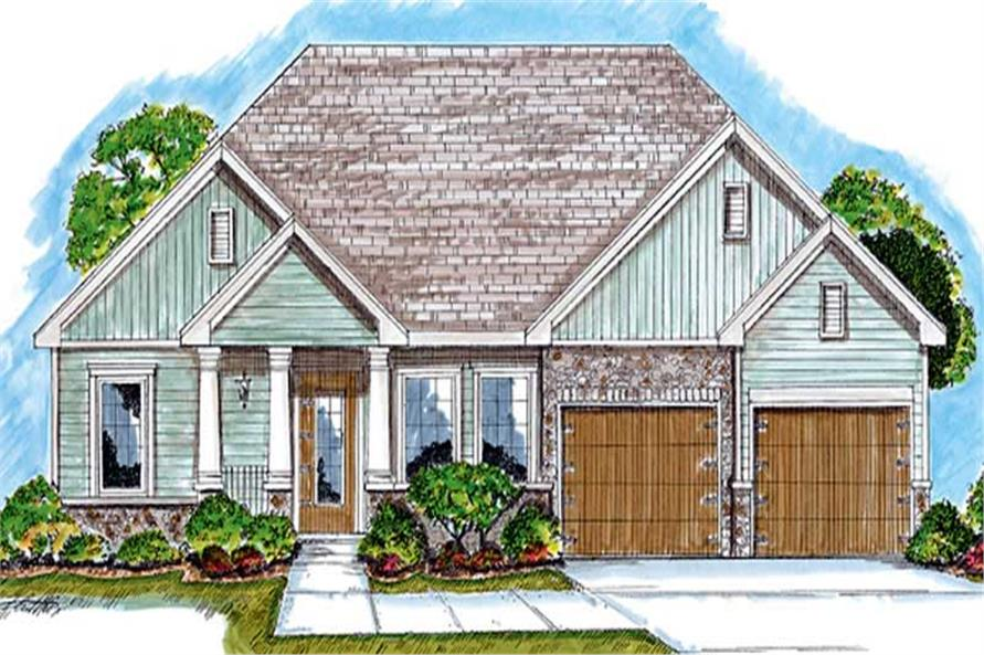 2-Bedroom, 1685 Sq Ft Country House Plan - 100-1069 - Front Exterior