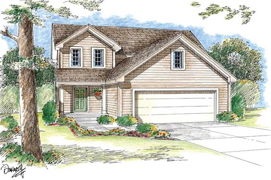 3-Bedroom, 1589 Sq Ft Small House Plans - 100-1072 - Main Exterior