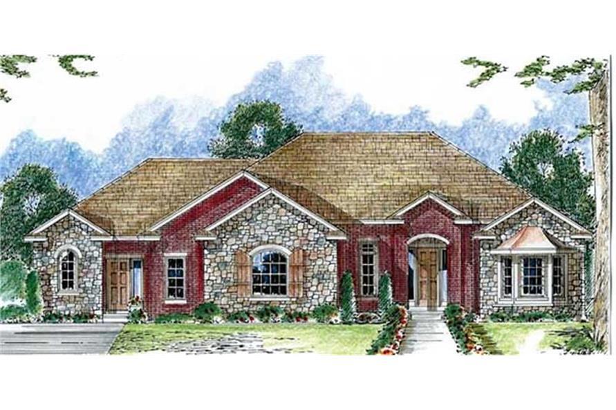 100-1076: Home Plan Rendering