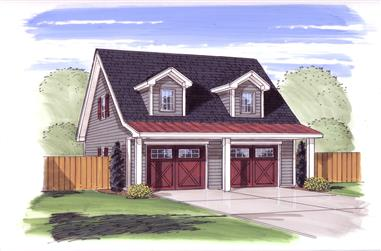0-Bedroom, 700 Sq Ft Garage w/Apartments Home Plan - 100-1077 - Main Exterior
