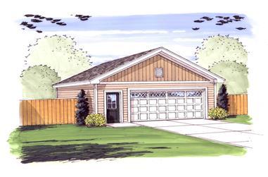 1000 Sq Ft Garage Home Plan - 100-1081 - Main Exterior