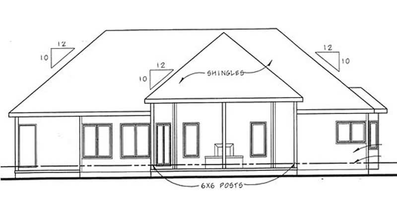Small house plans house plan 3 bedrms 2 5 baths 1800 for Rear master bedroom house plans