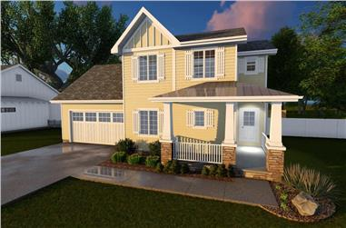3-Bedroom, 1388 Sq Ft Traditional Home - Plan #100-1085 - Main Exterior
