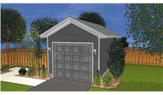 This is a computerized rendering of these Garage Plans.