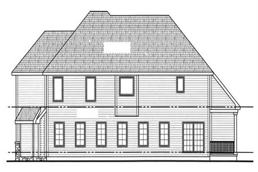 Home Plan Left Elevation of this 4-Bedroom,3210 Sq Ft Plan -100-1092